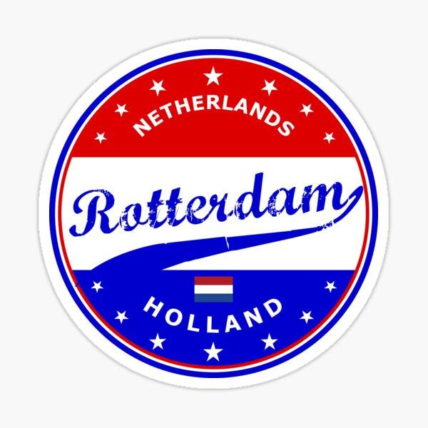ROTTERDAM City, Holland, Netherlands, circle Sticker