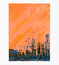 Orange and blue abstract Photographic Print