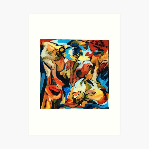 Abstract Musicians Painting Art Print