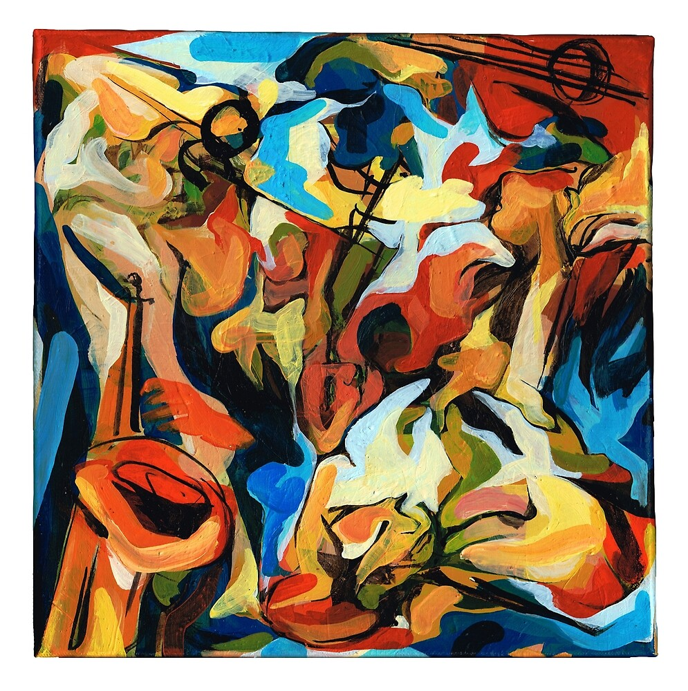 Abstract Musicians Painting by CatarinaGarcia