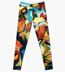 Abstract Musicians Painting Leggings