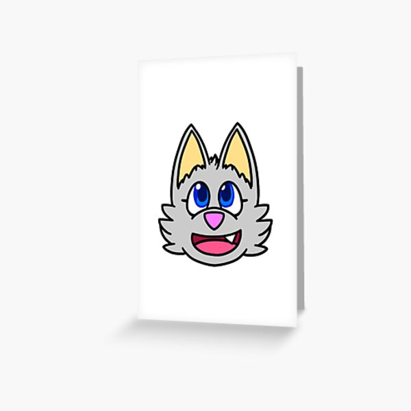 Luna Chibi Face Greeting Card