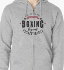 King of the Ring -Boxing Zipped Hoodie