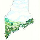 She Puts the Spring in our Maine by JillelaineArt