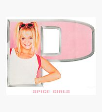 Spice Girls - Emma in letter P Photographic Print