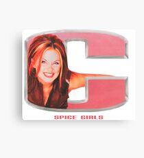 Spice Girls - Geri in letter C Canvas Print