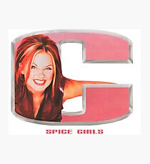 Spice Girls - Geri in letter C Photographic Print