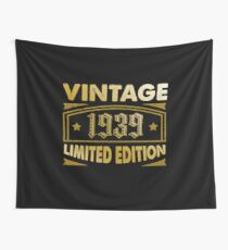 Born In 1939 T Shirt - Vintage Birthday Gift Wall Tapestry