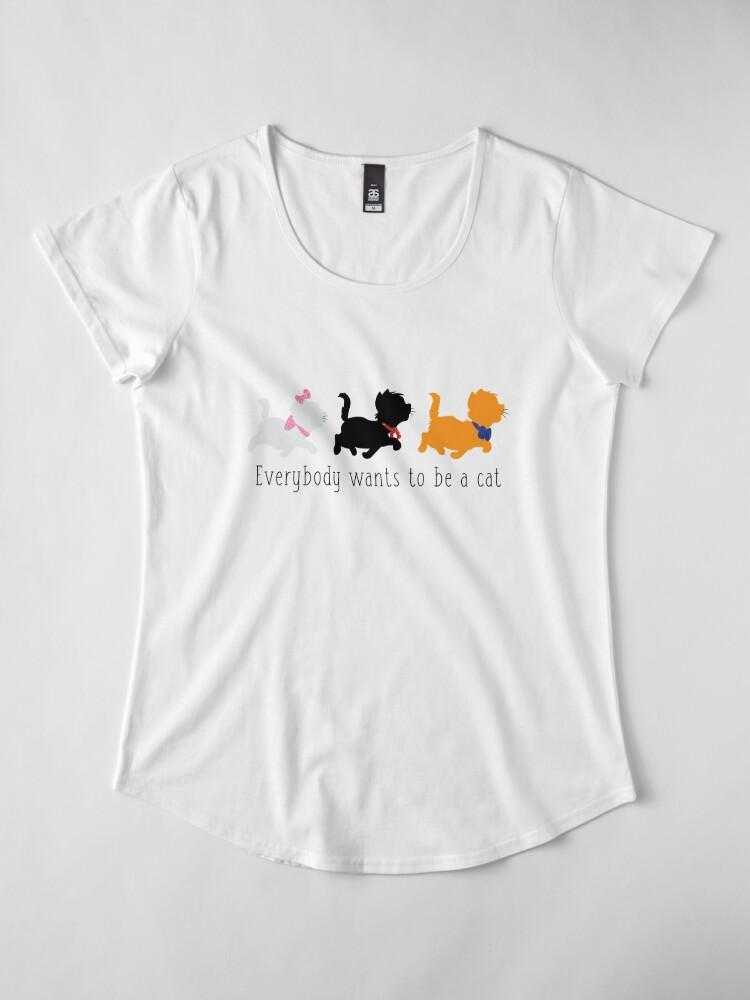 Vista alternativa de Camiseta premium de cuello ancho Los aristócratas
