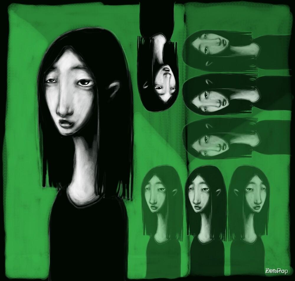 Girl On Green by ZenPop