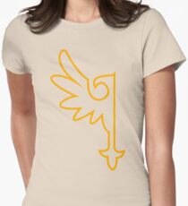 Golden One-Winged Eagle Womens Fitted T-Shirt