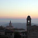 Santa Giuliana & San Spirito against the evening colours, Centro Storico, Perugia, Italy by Philip Mitchell