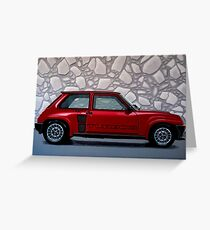 Renault 5 Turbo 2 1980 Painting Greeting Card