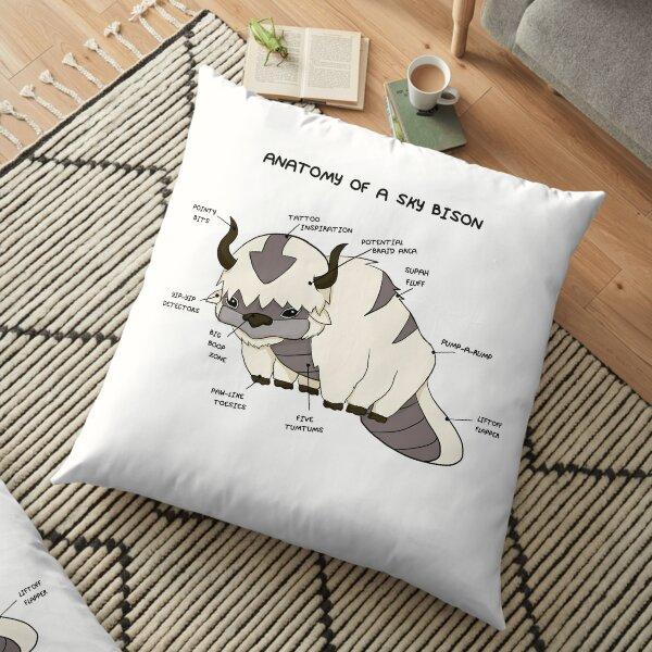 Anatomy of a Sky Bison Floor Pillow