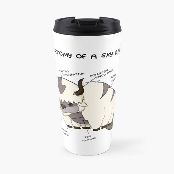 Anatomy of a Sky Bison Travel Mug