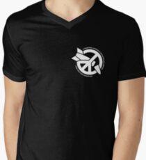 ICAN white (small logo) Men's V-Neck T-Shirt