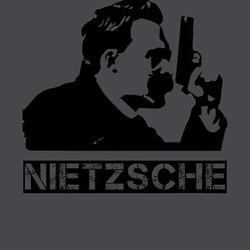 Friedrich Nietzsche with Pistol by JacknightW