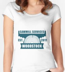 Sawmill 006 Women's Fitted Scoop T-Shirt