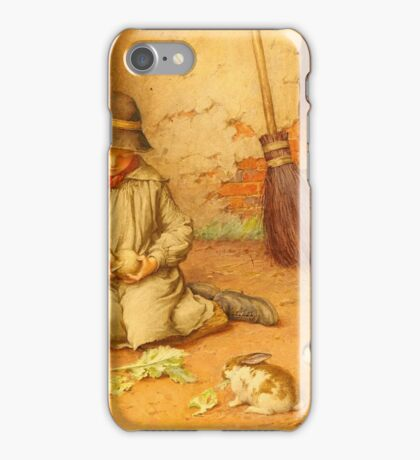 CHARLES EDWARD WILSON (1891-1936) Feeding the Pets c. 1890, England iPhone Case/Skin