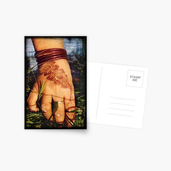 Henna Hand Postcard