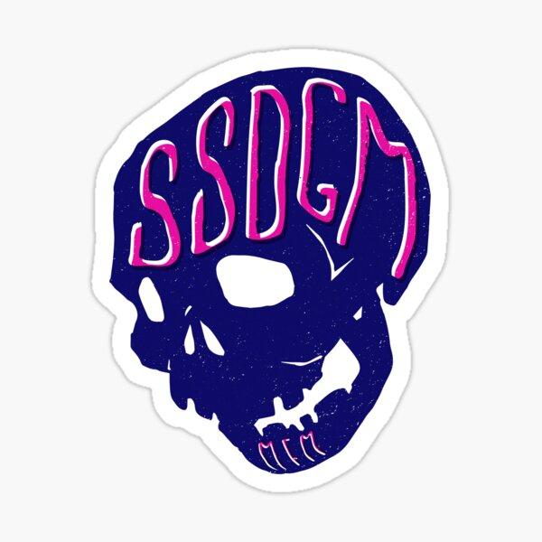 SSDGM Skull Sticker
