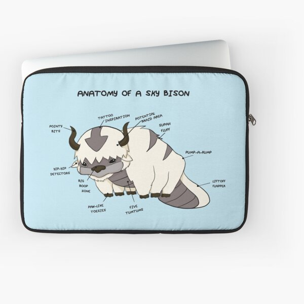 Anatomy of a Sky Bison Laptop Sleeve