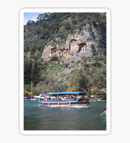 Quintessentially Dalyan: River Boats and Rock Tombs Sticker