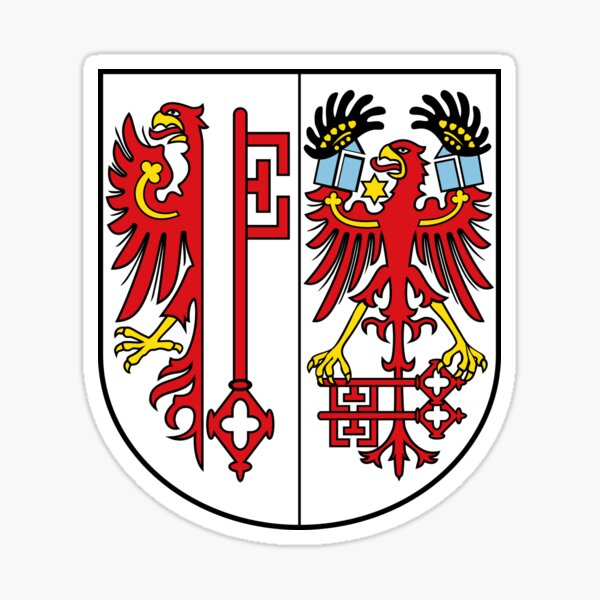 1x STICKER Magdeburg coat of arms GERMANY