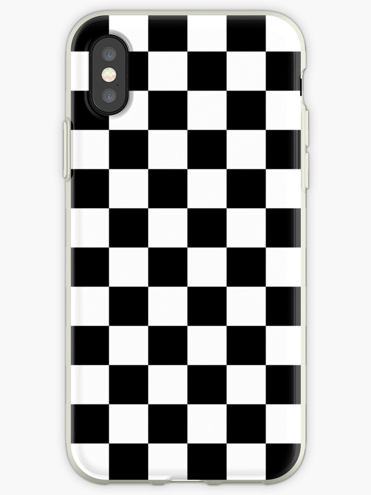 best service b2b00 a06a2 'Checkered Flag Racing Design Chess Checkers Checkerboard Squares' iPhone  Case by Martstore