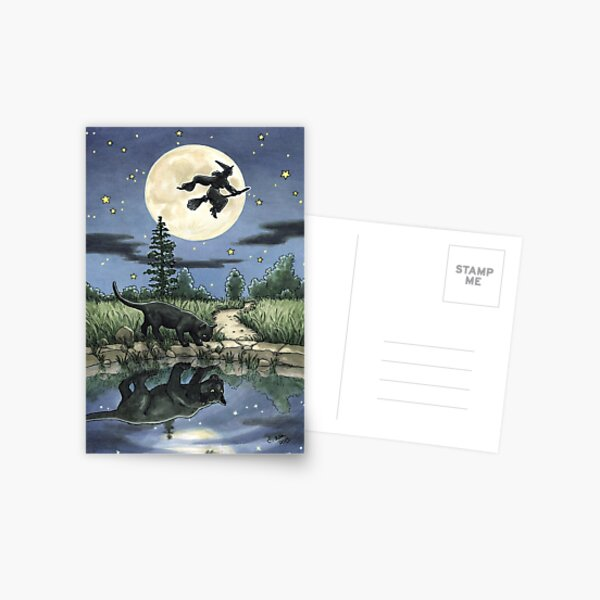 Everyday Witch Tarot - The Moon Postcard