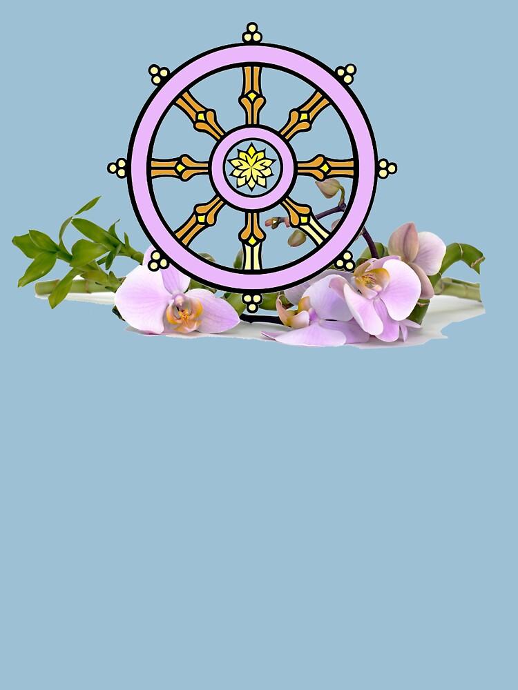 Dharmachakra Wheel of the Dharma by Rightbrainwoman