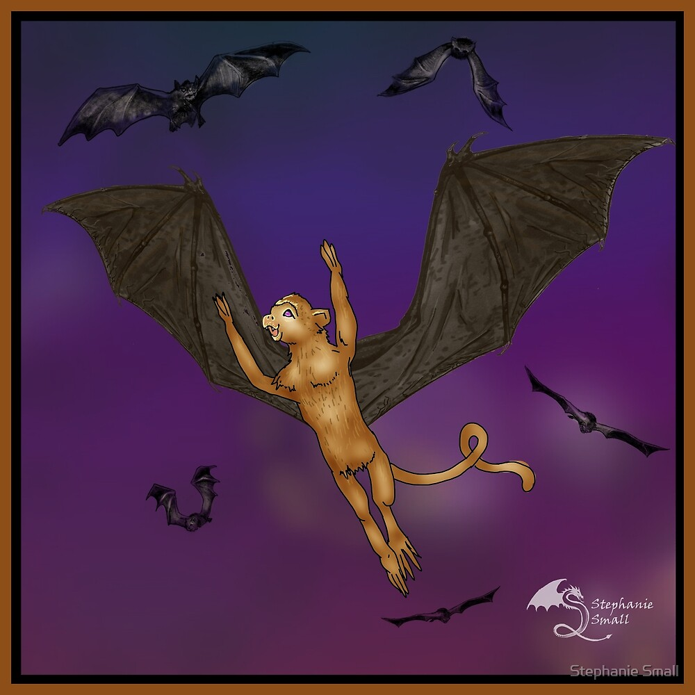 Rebob Flying Winged Monkey of Napa Valley California Wings 3 by Stephanie Small
