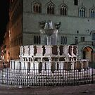 The Fontana Maggiore floodlit, Centro Storico, Perugia, Italy (2) by Philip Mitchell
