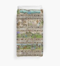 The second half of the Gabeaux Tapestry of the Outlander story Duvet Cover