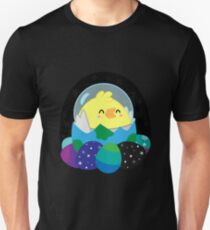 Easter Chicken in Space Unisex T-Shirt