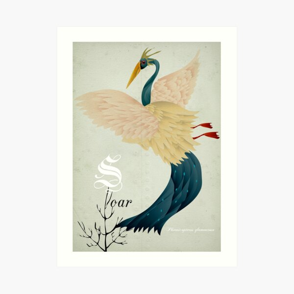 Soar flamingo!, pink, pelican, cute, vintage, phoenix, love, trust, texture, swan,  trending, most sold, popular, famous, best selling, top selling, highly recommended Art Print