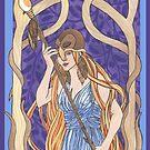 Owl Eyed Athena by redqueenself