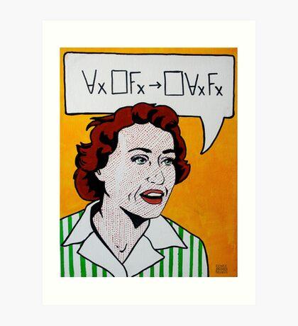 Ruth Barcan Marcus - Barcan Formula Art Print