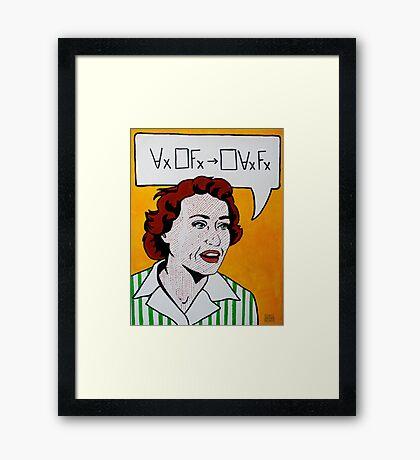 Ruth Barcan Marcus - Barcan Formula Framed Print