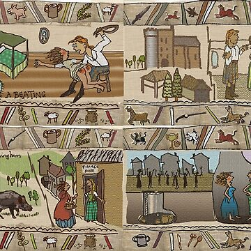 The Gabeaux Tapestry - second half of the Outlander narrative panels 21 to 24 by jennyjeffries