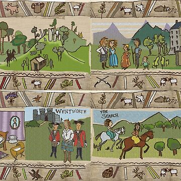 The Gabeaux Tapestry - the Outlander story told as a narrative - panels 25 to 28 by jennyjeffries