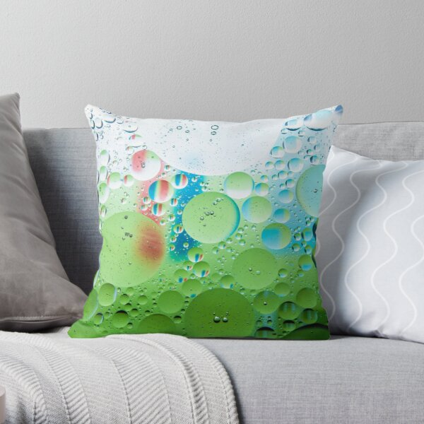 Multiverse - Lime Throw Pillow