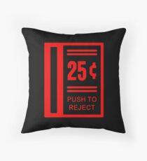 Insert Coin To Play Arcade Video Game Throw Pillow