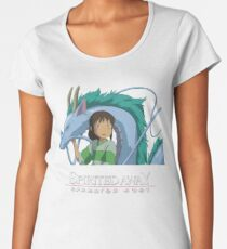 Spirited Away Chihiro and Haku-Studio Ghibli Women's Premium T-Shirt