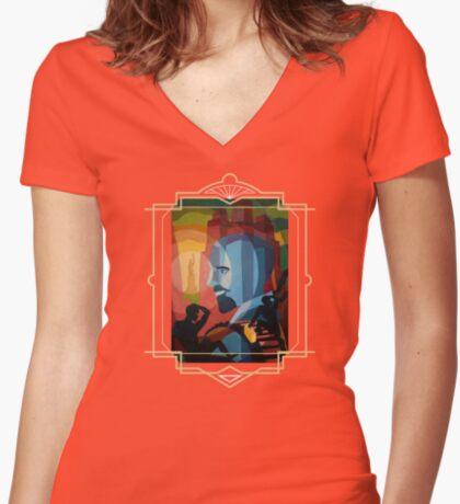 WEB Du Bois Women's Fitted V-Neck T-Shirt