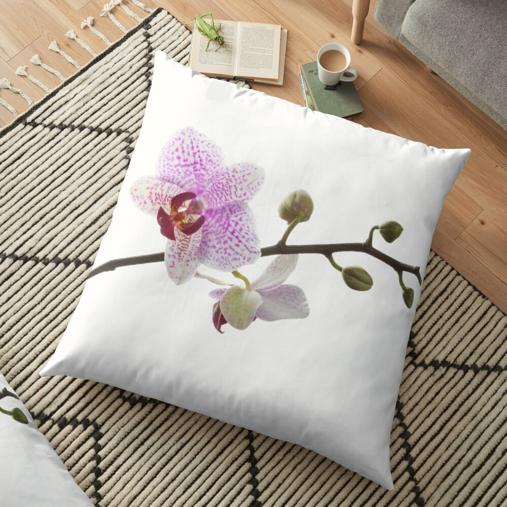 Orquídea púrpura (horizontal) Cojines de suelo