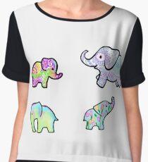 Elephant Madness Chiffon Top