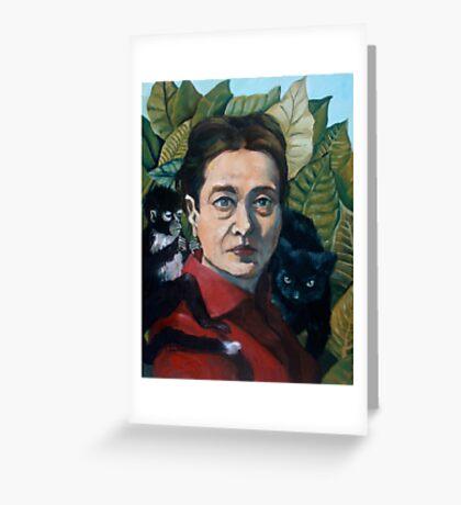 Simone de Beauvoir Greeting Card