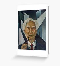 Bertrand Russell Greeting Card