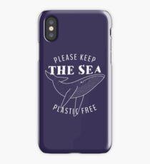 Please Keep the Sea Plastic Free - Whale iPhone Case/Skin